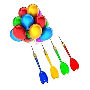 24 piezas de dardos (globos de dardos) de plástico con punta de acero para fiesta y carnaval: Amazon.es: Deportes y aire libre