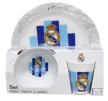 Real Madrid-GS-35-RM Set Desayuno de plastico CYP Imports GS-
