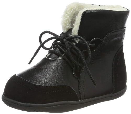 Bottes Fourrées Enfant, Hiver Bottines Fille Chaudes Bottes de Neige Garçon Imperméable Cuir Lacets Chaussures Taille 22 33 EU