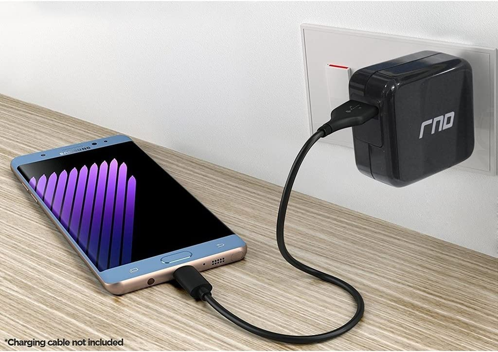 QC2.0 Compatible S10, S10 Plus, S10e, S9, S9 Plus, S8, S8 Plus, Note with Foldable Plug Google Samsung Galaxy More RND QC3.0 Quick Charge Compatible USB AC//Wall Charger LG Black Pixel, XL