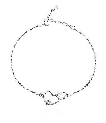 Sofia Milani Ladies Medical Bracelet Heart Infinity Symbol Sterling