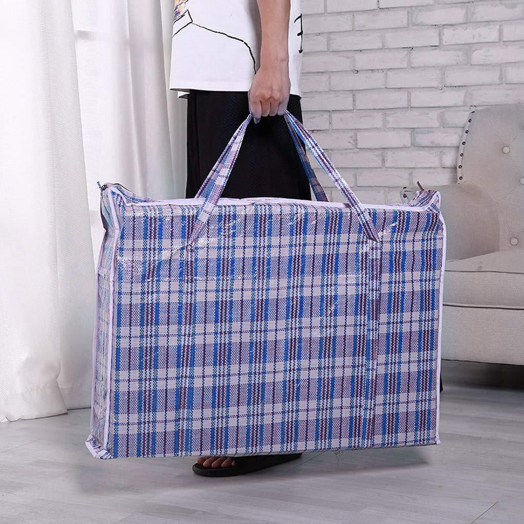 HDUFGJ Einkaufstaschen gro/ß Rei/ßverschluss Starke und langlebige W/äsches/äcke f/ür den W/äschereieinkauf Reisen Kleideraufbewahrung Blau