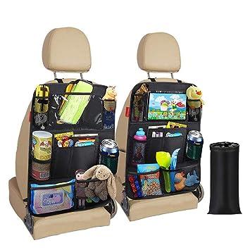 Awroutdoor Auto Rückenlehnenschutz 2 Stück Wasserdicht Auto Rücksitz Organizer Für Kinder Rücksitzschoner Kick Matten Schutz Für Mit Durchsichtigem Ipad Tablet Halter Baby