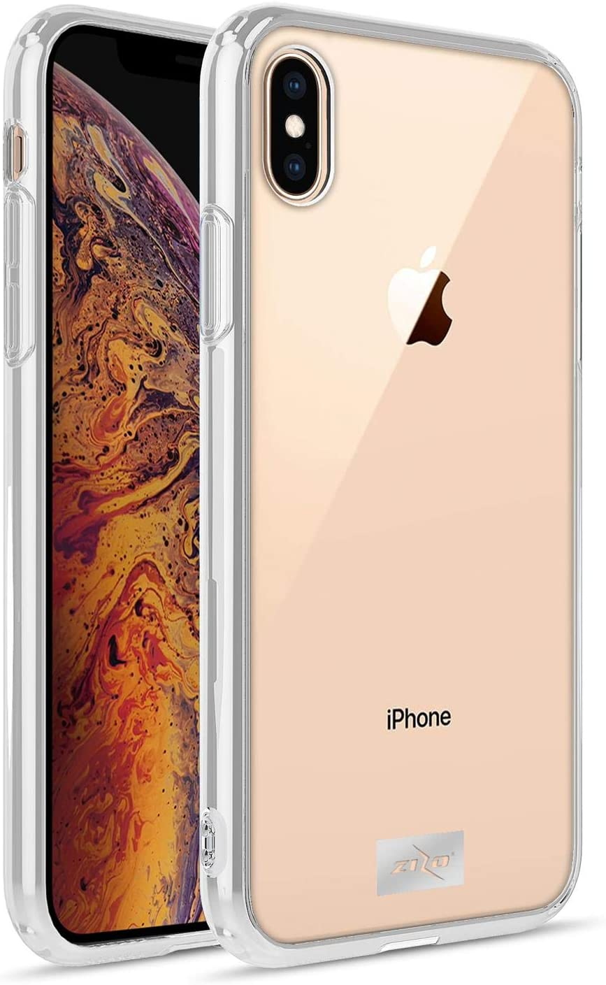 ZIZO Refine Series for iPhone Xs Max Case Slim Clear with PC Metallic Bumper Clear