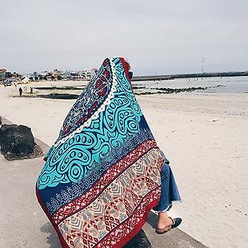 SUNBABY - Toalla de Playa Rectangular para Mujer, diseño de Chal Bohemio: Amazon.es: Hogar