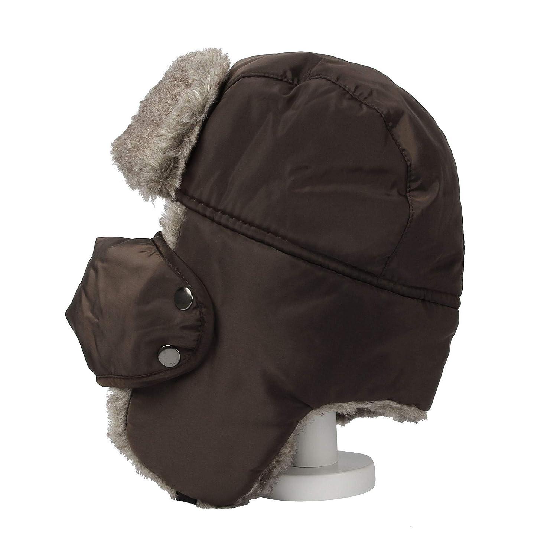 WIM Cappello Aviatore Trooper Trapper Hat Winter Windproof cap Faux Fur CRT1143
