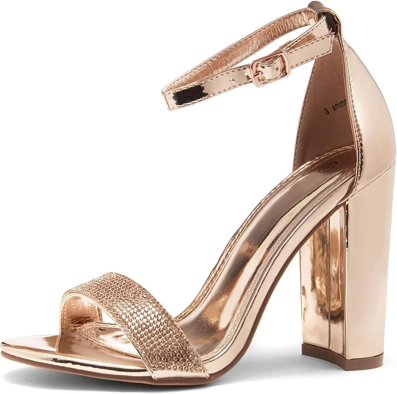 HANMAX Girls Open Toe Sandals Glitter Sequins Star Ankle Strap Princess Dress Shoes