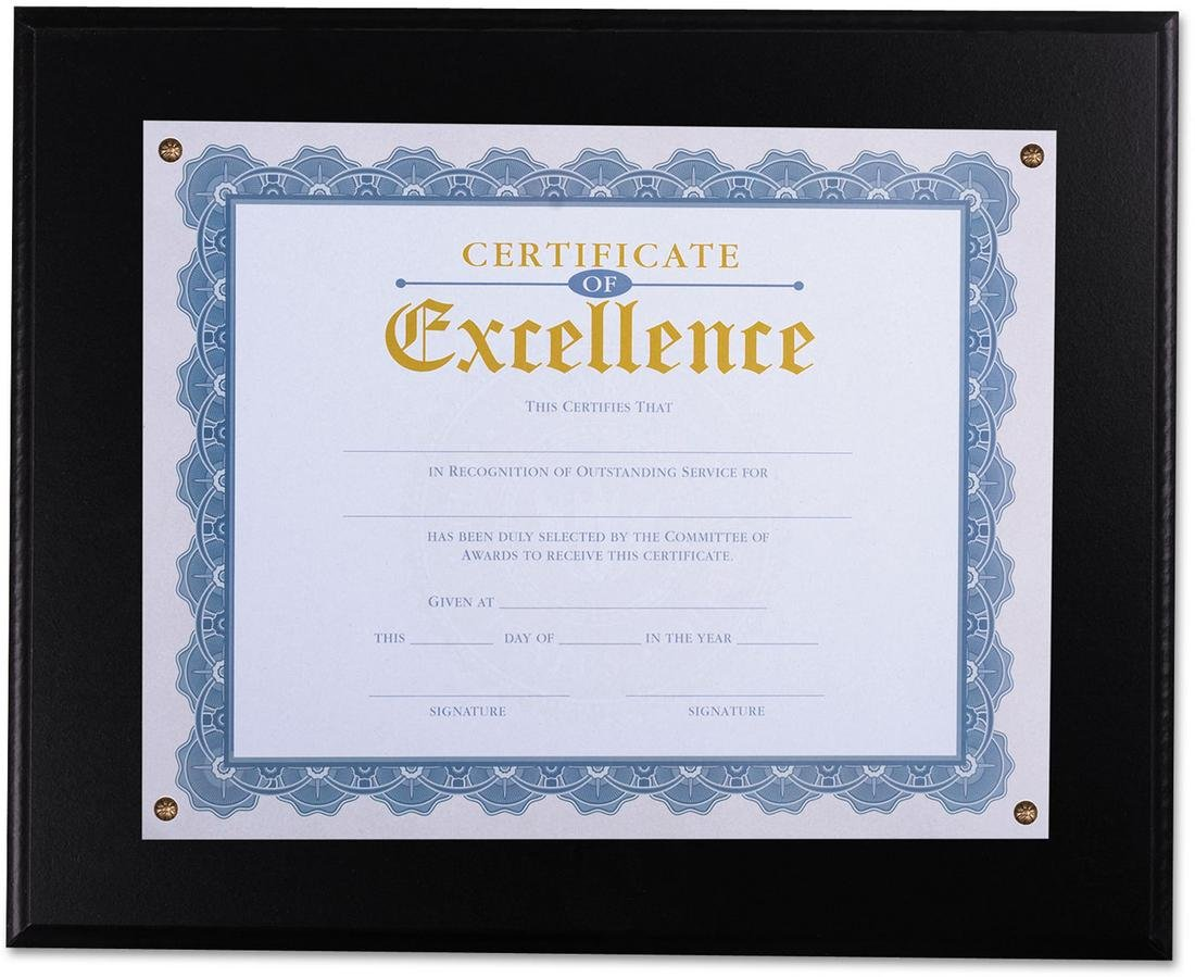 Universal 76827 Award Plaque, 13 1/3'' x 11'', Black