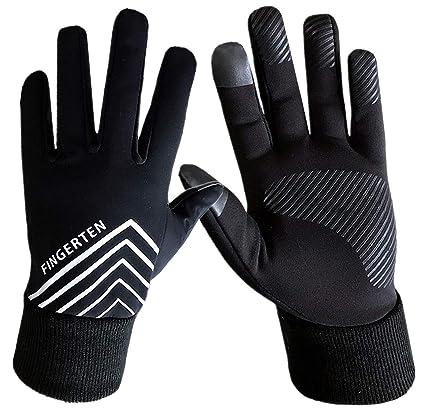 9429853602 Men and Women 3M Winter Warm Sport Run Gloves Black Fleece Windproof  Touchscreen Grip in Pair with Free Earband Set