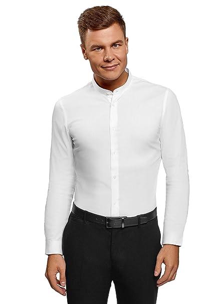 1d54be8036 oodji Ultra Uomo Camicia Slim Fit con Collo alla Coreana