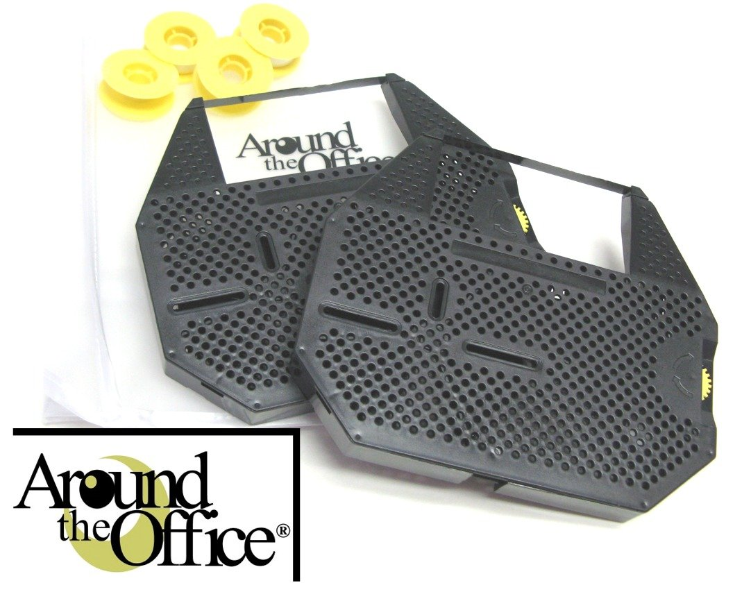 Around The Office Compatible PANASONIC Typewriter Ribbon /& Correction Tape for PANASONIC KX-E603.This Package Includes 2 Typewriter Ribbons and 2 Lift Off Tapes