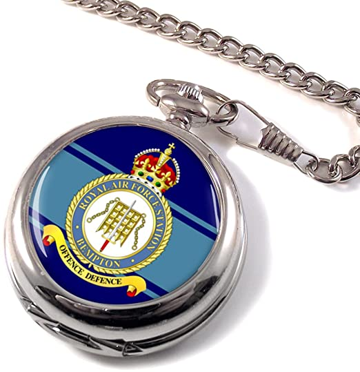 Royal Air Force estación Bempton (RAF) reloj de bolsillo: Amazon.es: Relojes