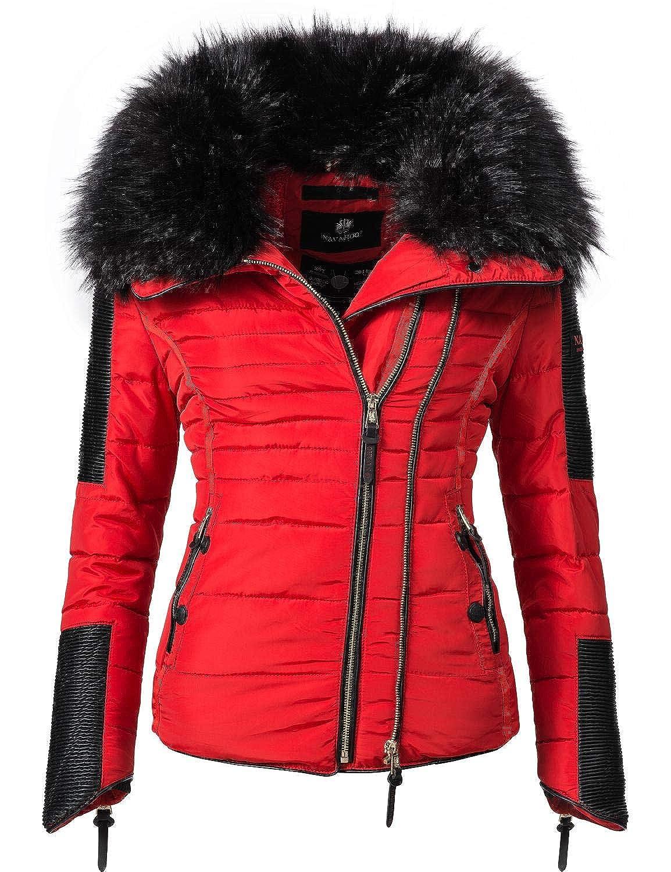 TALLA M. Navahoo Yuki2 Chaqueta de Invierno para Mujer con Capucha de Pelo sintético Negro 10 Colores XS-XL