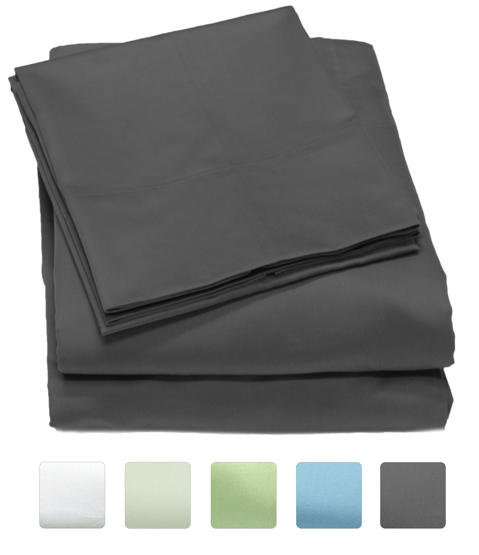 Callista 300 Thread Count 100% Cotton Sheet Set, Soft Sateen Weave,Twin Sheets, Deep Pockets,Hotel Collection,Luxury Bedding-Bestseller- Super Sale 100% Cotton, Twin Grey by Fine Linen