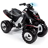Smoby 033050 - Quad Électronique X Power Carbone - Véhicule Electronique pour Enfant - 2 Roues Motrices - Autonomie Batterie 2 heures - 6V - Noir