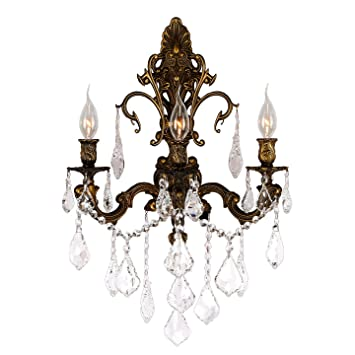 crystal wall sconces for candles cheap ebay worldwide lighting collection light antique bronze finish sconce