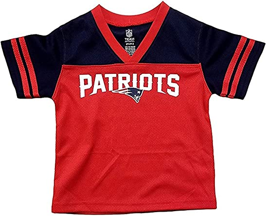 Amazon.com: Outerstuff New England Patriots Red Boys Youth Team ...