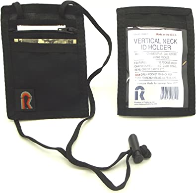Amazon.com: Vertical cuello ID Holder w/correa ajustable ...