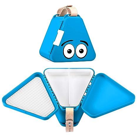 Teebee – Caja de Juguetes de Viaje para niños, Bandeja de Actividades y Maleta para