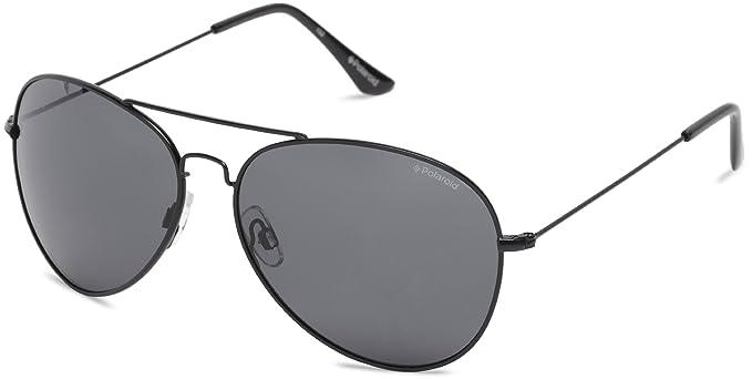 30551014c Polaroid Polarized Aviator Unisex Sunglasses - (04214 KIH 58Y2|58|Black  Color)