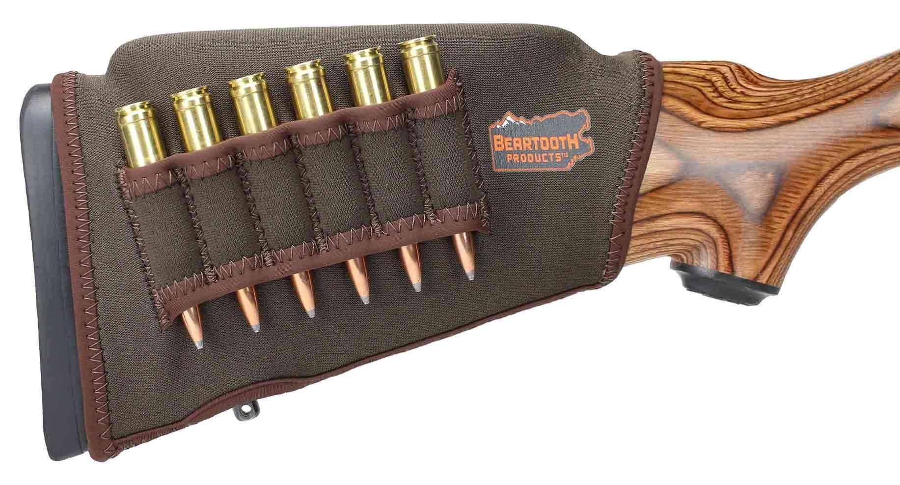 Beartooth Comb Raising Kit 2.0 - Premium Neoprene Gun Stock Cover + (5) Hi-Density Foam Inserts - Rifle Model (Brown - Left-Handed) by Beartooth