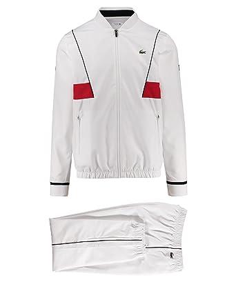 18db915e11 Lacoste Sport Novak Djokovic Survêtement de tennis, weiss / rot (908), xxl