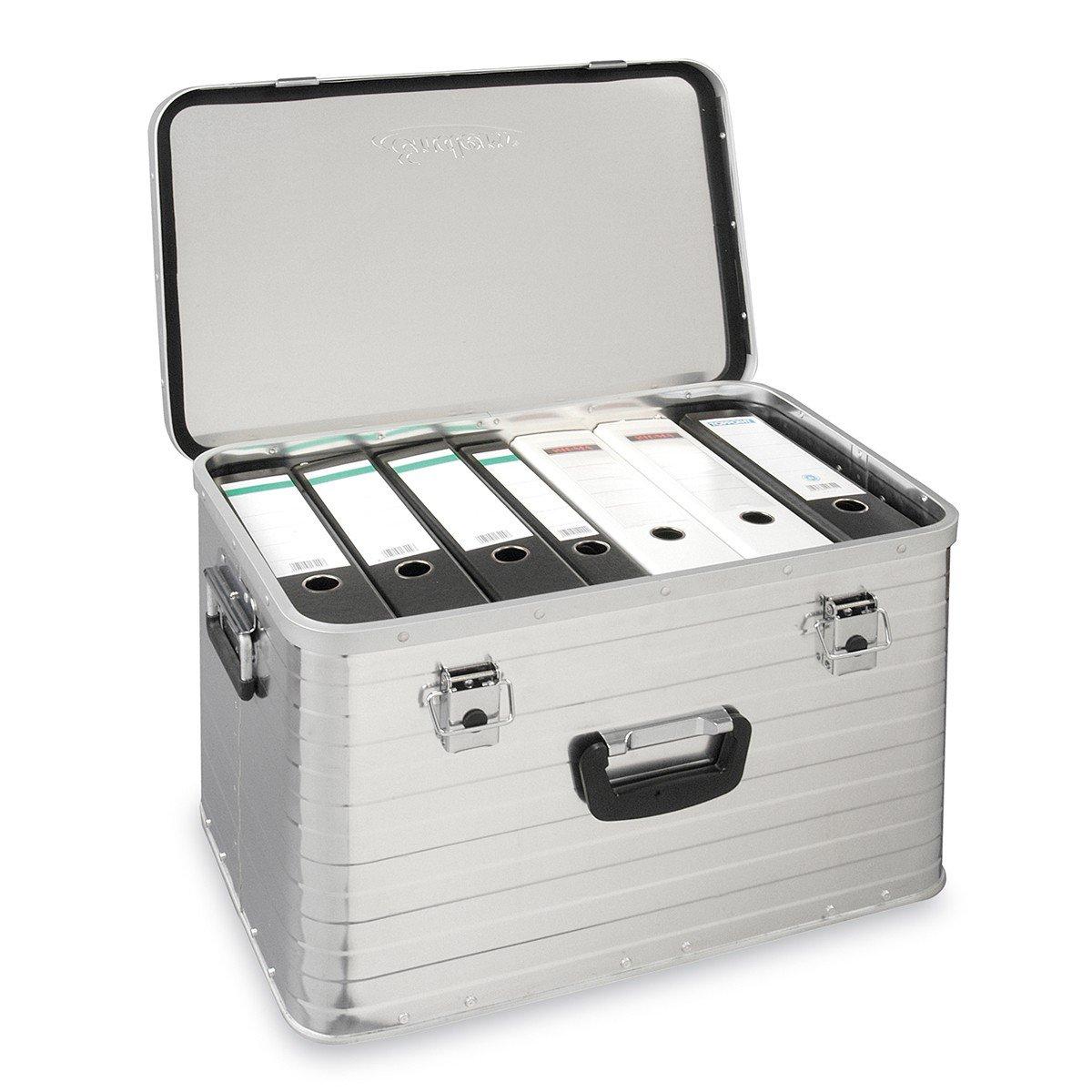 Alukiste flexibel verwendbar als Transportbox und Lagerbox hochwertig verarbeitet Enders Aluboxen Set 29 und 63 Liter Schloss Set mit Moosgummidichtung Alukoffer Lagerkisten Metallkiste Metallbox Alubox Alukisten