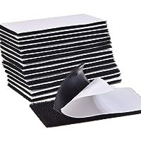 [Latuna] 面ファスナー 両面テープ パワフルピタクロ 超強力 黒 5×10cm 防水 耐熱 防じん オス メス 15枚セット
