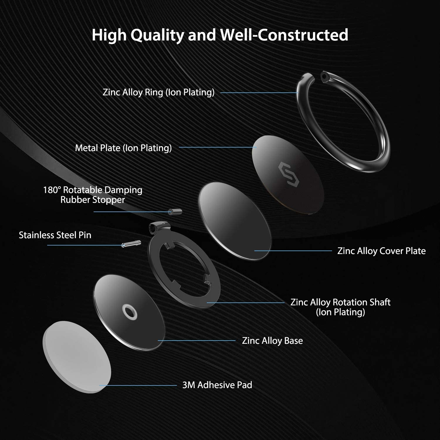 high built in quality of smartphone ring holder