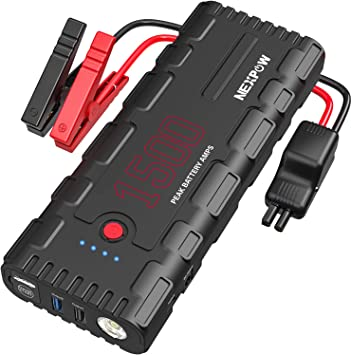 Amazon.com: NEXPOW Batería de arranque para coche, 1500 A ...