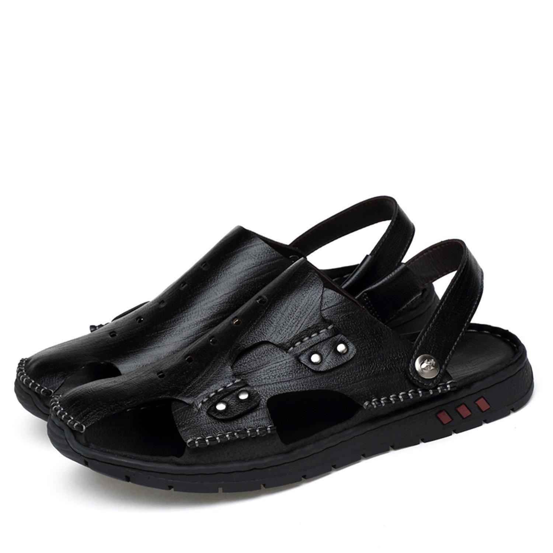 separation shoes 0a5cd 90553 Carolyn Jones Cowhide Male Beach Shoes Shoes Shoes Men Outdoor Casual  Leather Sandals 8 D(M) US A1603 9 Black B074J6G6XD 1943b1