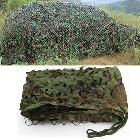 bluecookies Military Camo Netting Army Woodland Camouflage Netting Oxford  Fabric Hunting Camping Net