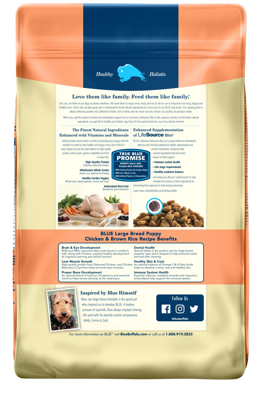 Blue Buffalo Life Protection Formula Natural Puppy Large Breed Dry Dog Food, Chicken and Brown Rice 30-lb by BLUE Life Protection Dog Food (Image #2)