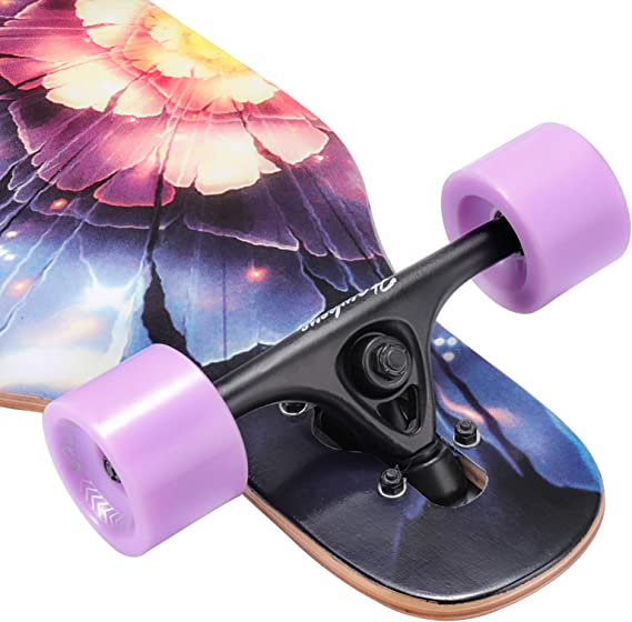 Carving Hawkeye 41 inch Freeride Longboard 8 Layer Canadian Maple Wood Skateboard Complete Cruiser Cruiser for Cruising Freestyle and Downhill