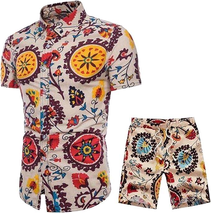 Amazon.com: jotebriyo camisa para hombre playa Pantalones ...