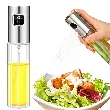 Spray de aceite de oliva, botella de aceite de vidrio apto para uso ...