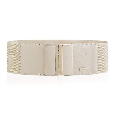 Ceinture élastique dames ceinture large ceinture de mode avec boucle en  cuir PU en cuir 1286b0644cf
