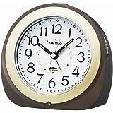 セイコー クロック 目覚まし時計 自動点灯 電波 アナログ 夜でも見える 茶 メタリック KR331B SEIKO