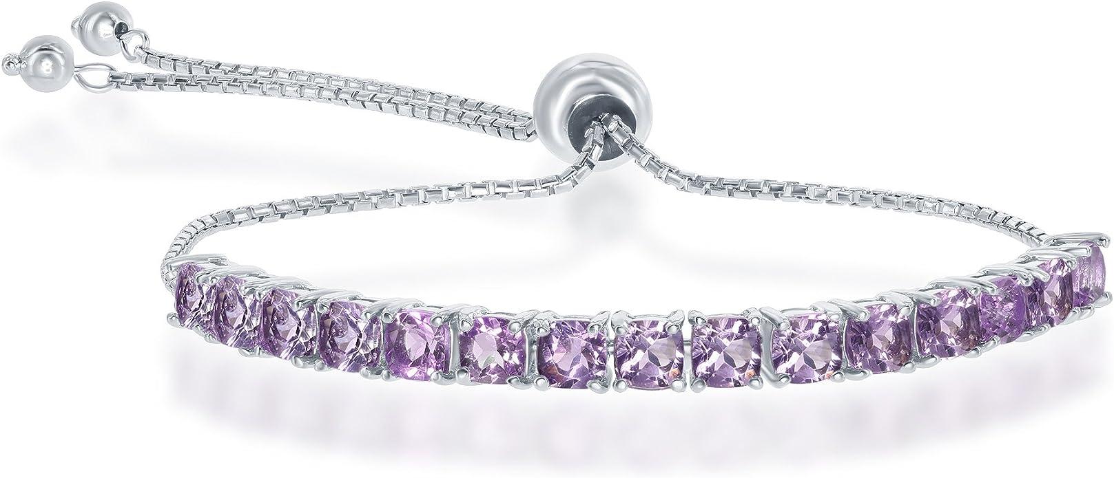 Bridesmaid Gift Bezel Setting Bracelet AAA New Trendy Amazonite Gemstone Bracelet Beautiful Tennis Bracelet Amazonite Jewelry Love Gift