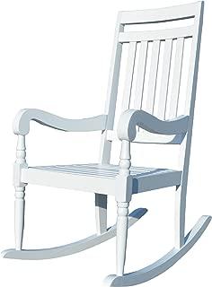product image for Carolina Chair & Table JR1101 WHT Belmont Slat Rocker, White