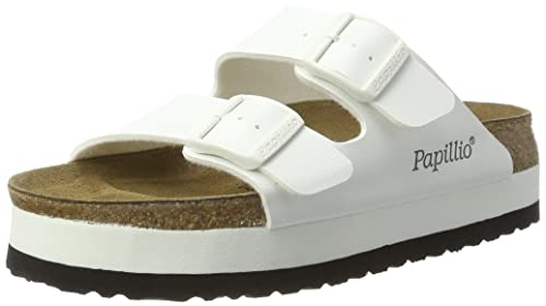dbc8d638b196 Papillio Women s Arizona Platform Sandals150  Narrow Width UK 5.5 White