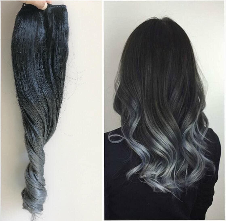 Extensiones de cabello de 55,9 cm, pelo ondulado, 6 piezas ...
