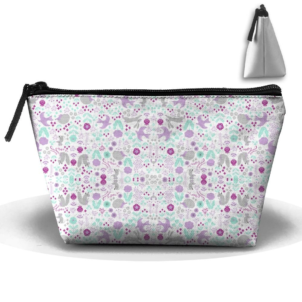 free shipping Spring Purples Flowers Cosmetic Bag,Portable Travel Makeup  Case Pouch Toiletry Wash Organizer e59bef5076