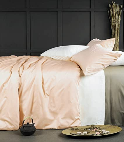 Amazon Com Eikei Rose Gold Duvet Cover Luxury Bedding Set High