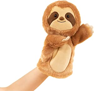 SimpliCute Sloth Plush Toy Hand Puppet with Movable Arms - Hand Puppets for Kids All Ages