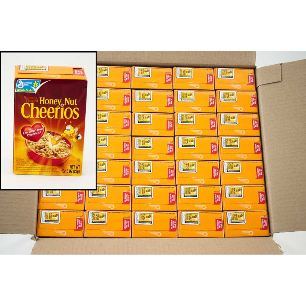 General Mills Honey Nut Cheerios Cereal, Single Pack, 0.81 Ounce - 70 per case.