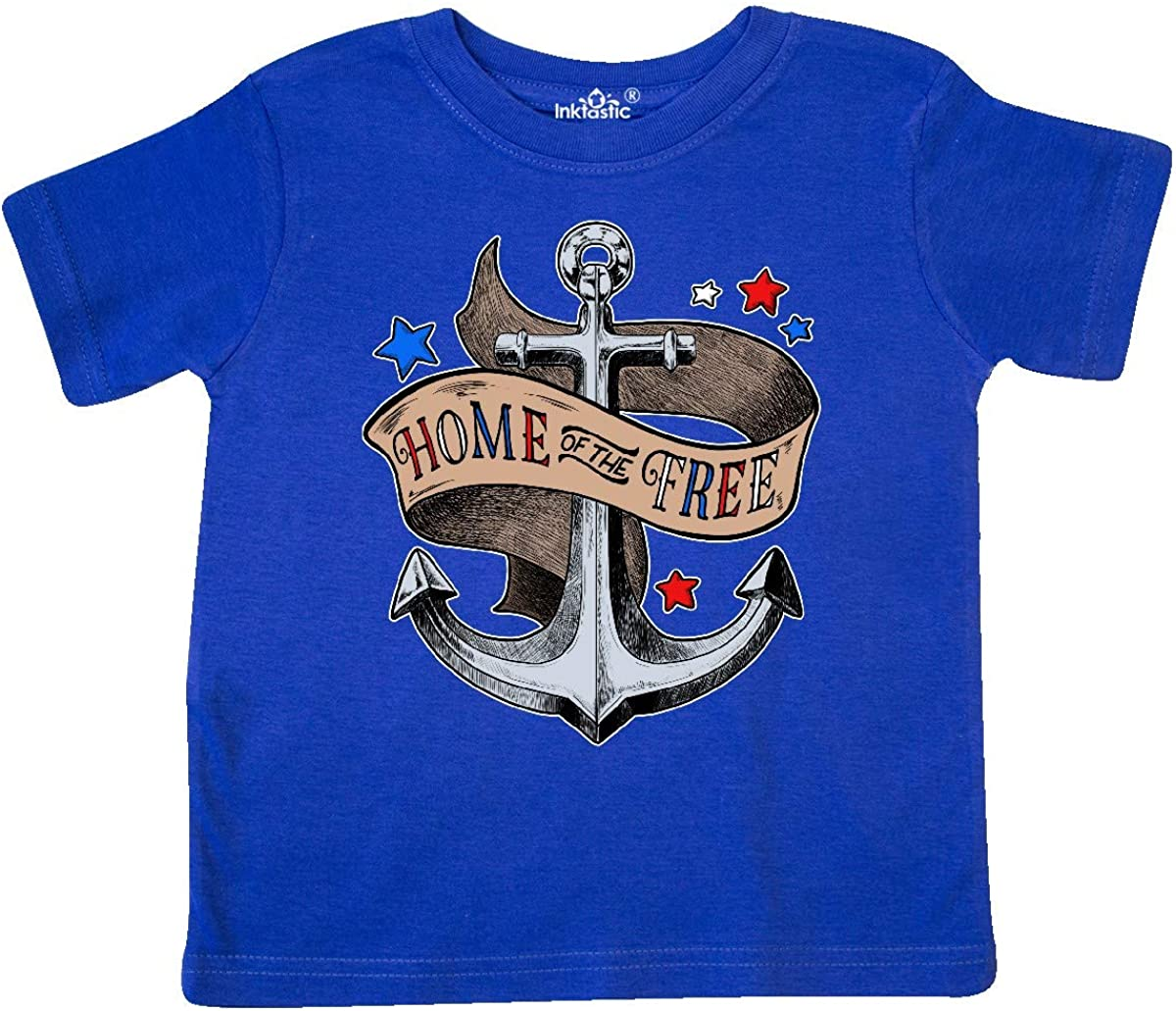 inktastic Home of The Free Anchor Illustration Toddler T-Shirt