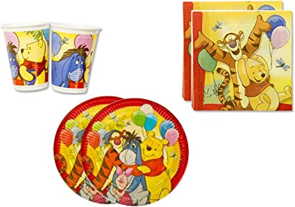 Amazon.com: Winnie the Pooh Fiesta de cumpleaños suministros ...