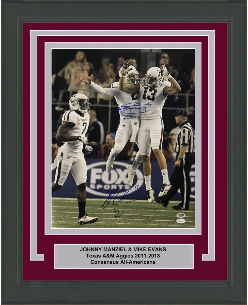Framed Autographed Signed Johnny Manziel Mike Evans Texas A M Aggies 16x20 College Football Photo Psa Dna Coa 3 At Amazon S Sports Collectibles Store