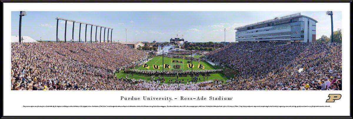 Purdue Boilermakers Football – エンドゾーン – Blakewayパノラマ大学フットボールポスター  スタンダードフレーム B075ZJQP9C